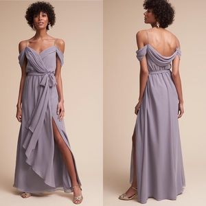 BHLDN Watters kane dress in Victorian purple color